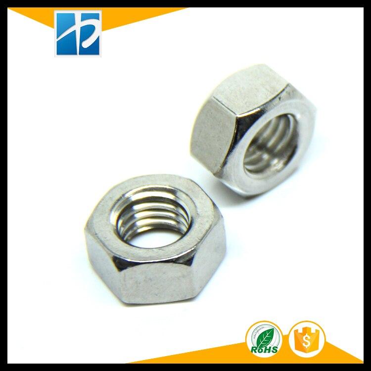 (50 pc/lote) M1.6, M2, M2.5, M3, M4, M5, m6 DIN934 18-8 A2 micro Hex Porcas de Aço Inoxidável, Metric