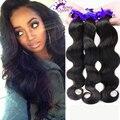 7A 3 bundles Peruano de la virgen onda del cuerpo del pelo Rosa productos para el cabello 100% humano de la Virgen del pelo extensión virginal sin procesar Paquetes de pelo