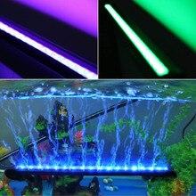 16/26/36/46/56CM LED Fish Aquatic Pet Tank Light RGB Bar Air Bubble Lamp Submersible Waterproof Aquarium Lighting
