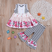 toddler summer clothes girls summer outfits girl 2019 kids boutique outfit thanksgiving my first  sleeveless floral print vest