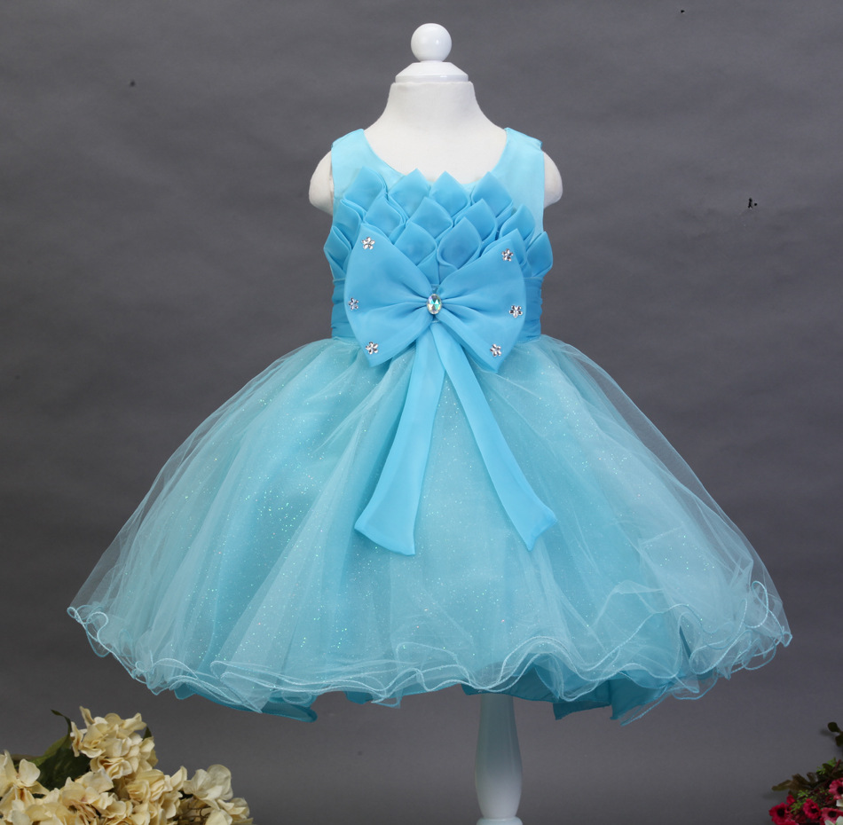 2016 new fashion baby kids girls party dress princess