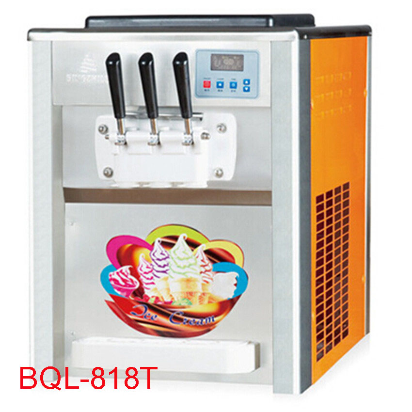18L/H Ice cream maker Commercial Soft Ice cream  machine Sundae ice cream machine Yogurt machine Flavor1800W 3 220V/50HZ xeoleo single flavor ice cream maker soft ice cream machine 18l h 220v 50hz r22 commercial yogurt machine