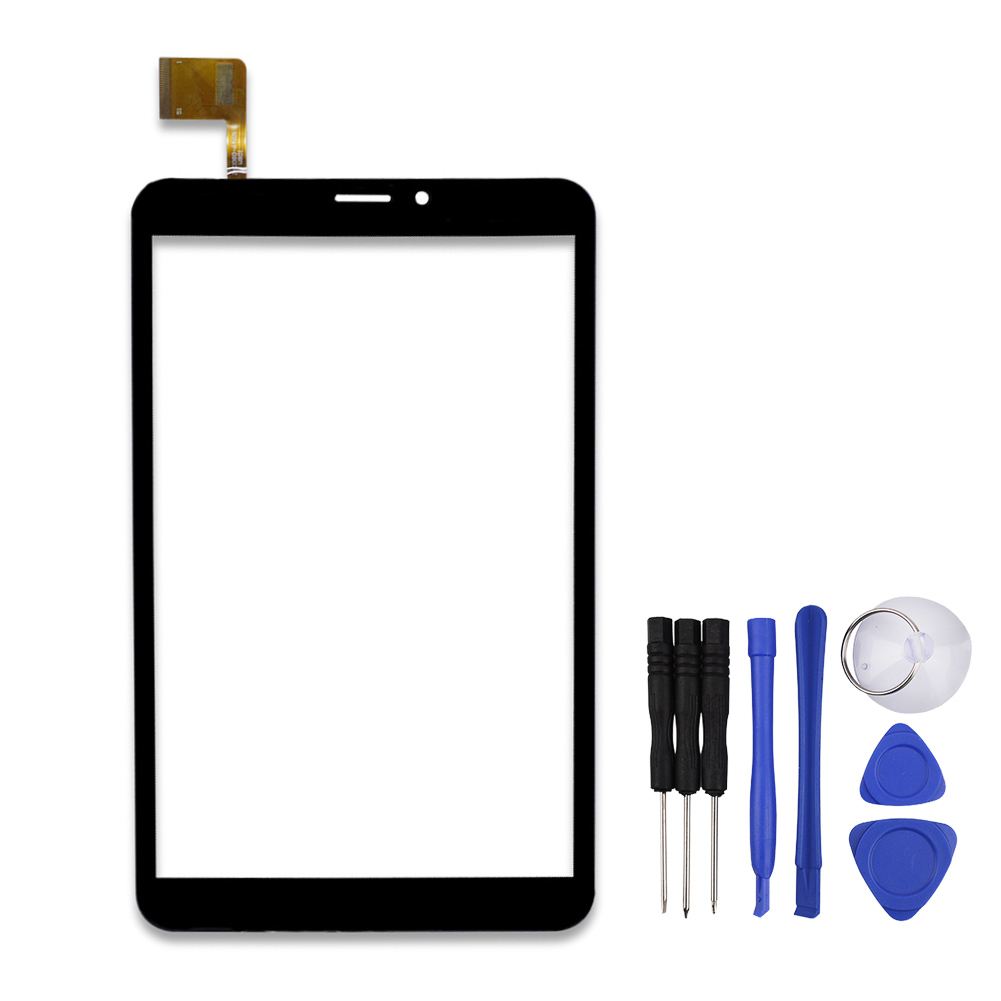 New 8 Inch Black ZYD080-64V01 Tablet Touch Screen Touch Panel Digitizer Glass Sensor Replacement Free Shipping 7 for dexp ursus s170 tablet touch screen digitizer glass sensor panel replacement free shipping black w