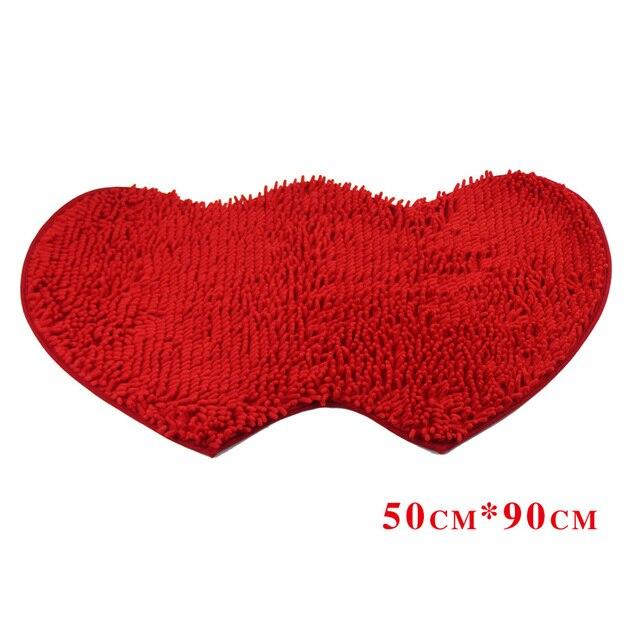 La decoración del hogar en forma de Corazón Dobles alfombras de baño ...
