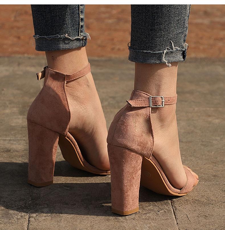 HTB14d8 borrK1RkSne1q6ArVVXaE Women Sandals Ankle Strap Summer Shoes Woman High Heels Sandals Plus Size 43 Chaussures Femme Open Toe Women Summer Sandals