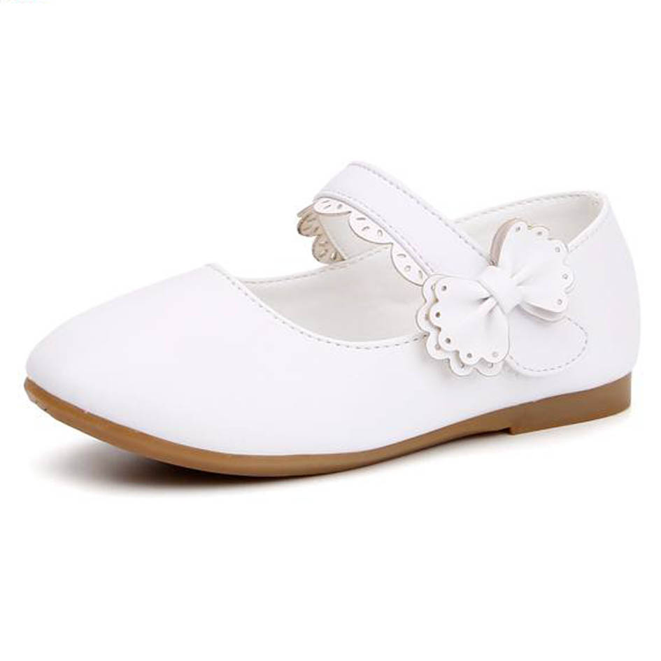 2017 Spring Bow Tie Children Girls Wedding Shoes Fashion Kids Girls Flats  Shoes Ankle Strap Girls Shoes For Party Sapatos ninas-in Leather Shoes from  Mother ... 454e778d706a