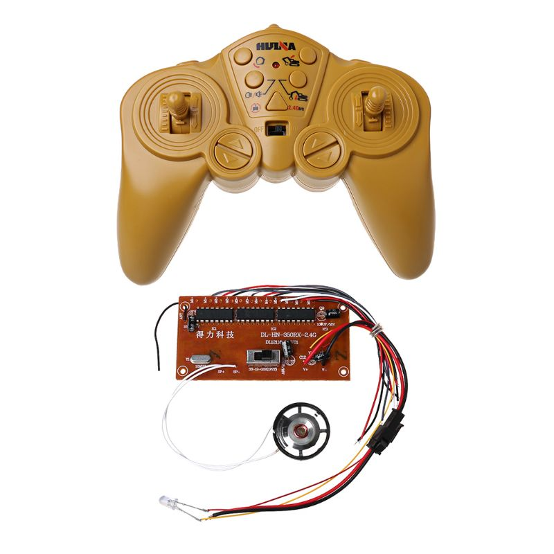 Symbol Of The Brand Huina Hui Na 350 550 2.4g 30 Meters 12ch Remote Control And Receiver Board Radio System 4-8v For Excavator Tank Kit With Speaker Factory Direct Selling Price Toys & Hobbies Parts & Accessories