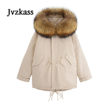 Jvzkass cotton women short paragraph 2018 winter new thick clothing tooling loose jacket coat tide Z223