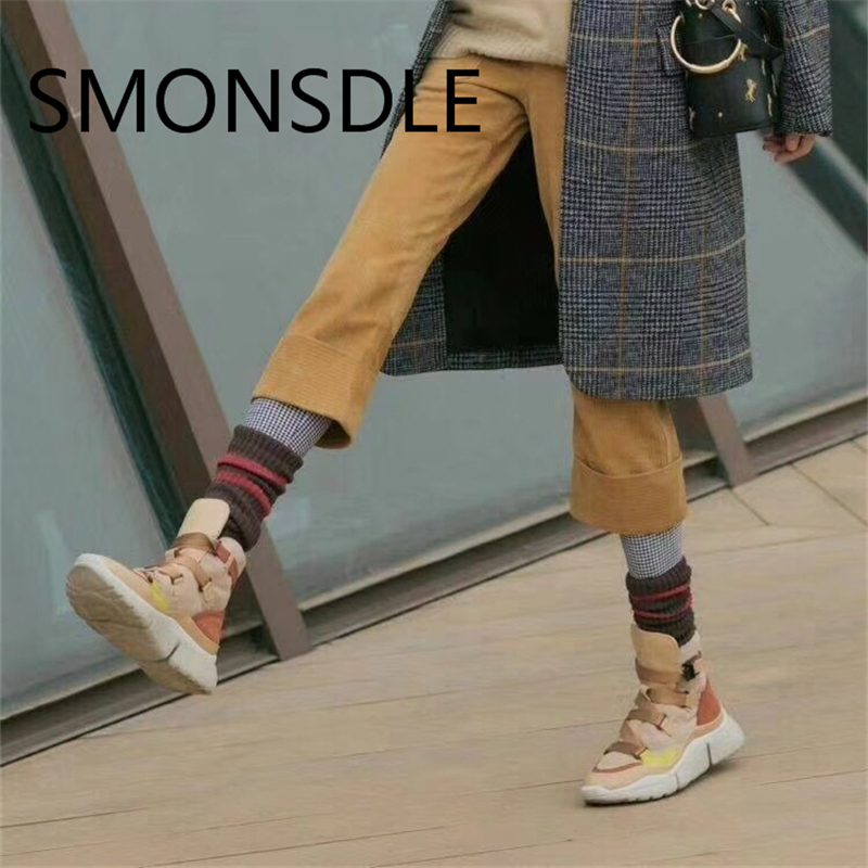 2018 New Fashion Spring Autumn Women Flats Buckle Strap Shoes Woman Casual Women Shoes Sneakers Platform Shoes Mixed Color Flats цена 2017