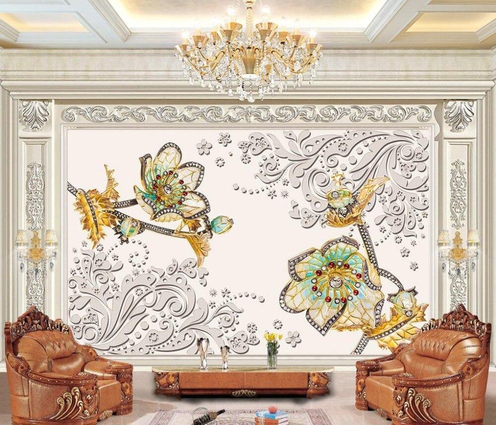 Papier A Peindre Motif €13.54 57% de réduction|haute qualité 3d papier peint moderne de luxe motif  fleur peinture murale 3d peintures murales non tissé salon 3d peintures