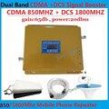 Полный Комплект ЖК-усилитель! Dual band 3 г wi-fi ретранслятор gsm сотовых 850 МГц/1800 МГц 4 Г LTE усилитель сигнала сотового телефона усилитель 65dB