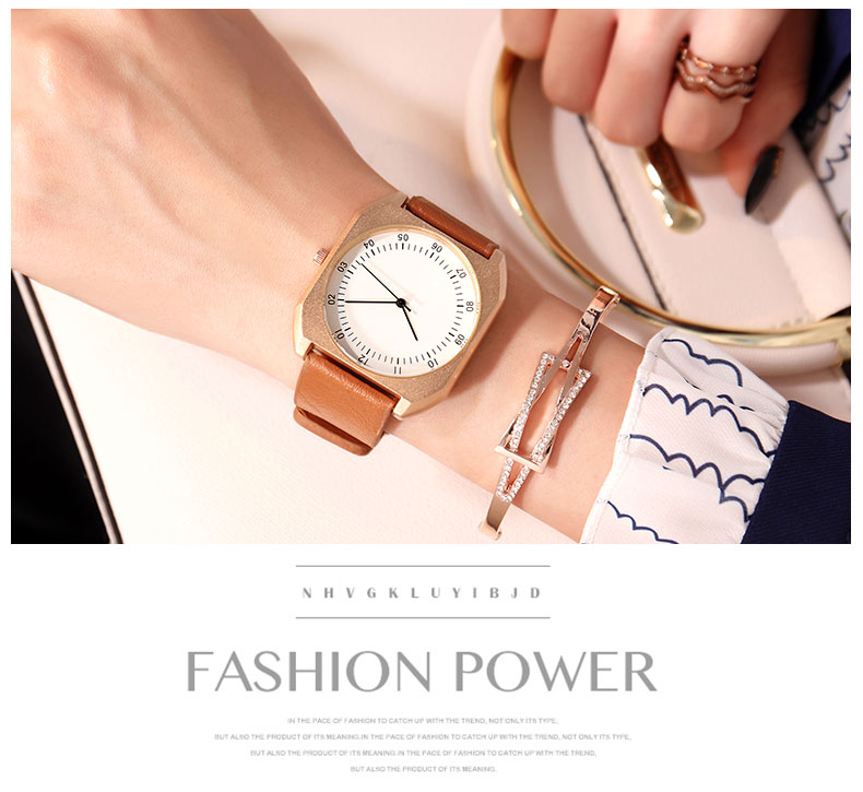 2a50af8062a8 BGG New Design Women Square Big Dial Watch Women Fashion Casual ...