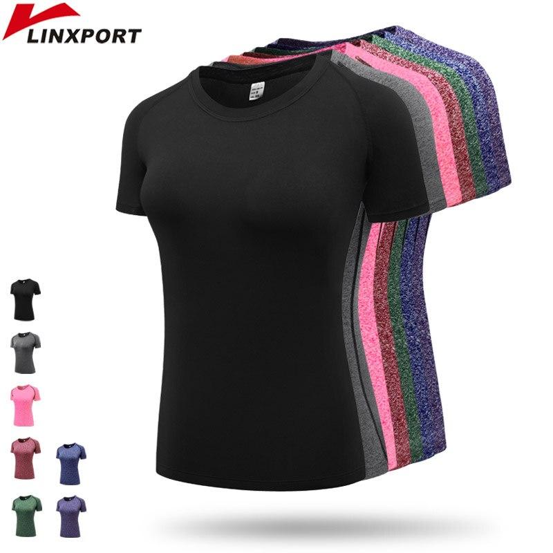 ✔  Фитнес женские быстросохнущие рубашки Elastic Yoga Mesh Спортивные футболки Колготки Тренажерный зал ✔