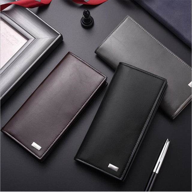 DEABOLAR 남자 지갑 카드 홀더 PU 가죽 남성 지갑 긴 디자인 품질 여권 커버 패션 캐주얼 남성 지갑 판매