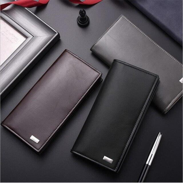 DEABOLAR hommes portefeuilles porte carte en cuir PU mâle portefeuille longue conception qualité passeport couverture mode décontracté hommes sac à main en vente