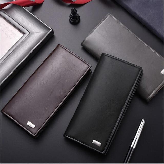DEABOLAR męskie portfele z etui na karty PU skórzany portfel męski długi design jakość okładka na paszport fashion casual torebka męska na sprzedaż
