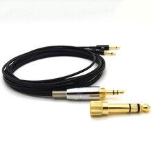 Sennheiser hd477 hd497 hd212 pro eh250 eh350 용 업그레이드 된 헤드폰 케이블 msur 650 교체 용 와이어 6.35/3.5mm ~ 2.5mm