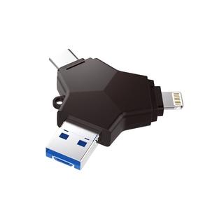 Image 3 - Ingelon Usb 3.0 pen drive flash 32gb 64gb 128gb pendrive usb c micro typu c z systemem Android w stylu Y szyfrowane pamięć Usb dla iphone
