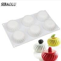 Blanco, forma de la bola redonda de silicona Mini molde del mollete de trufas de chocolate pudín Jello moldes decoración de la torta pasta de azúcar de t