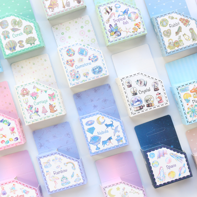 Domikee New Kawaii Foil Decorative Japanese Washi Tape For Diary Planner Stationery,candy Kid's Masking Tape For DIY Craft Wrork