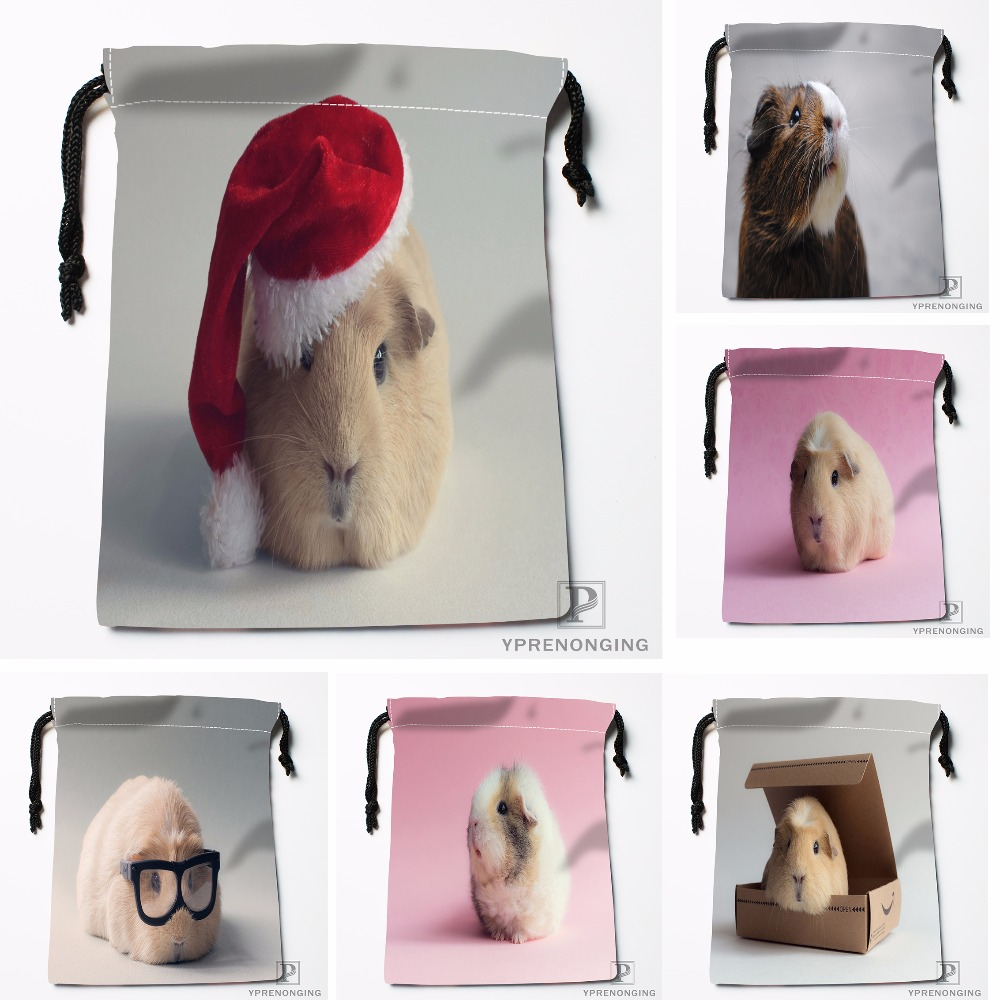 Custom Other Cute Guinea Pig Drawstring Bags Travel Storage Mini Pouch Swim Hiking Toy Bag Size 18x22cm#412-04-12