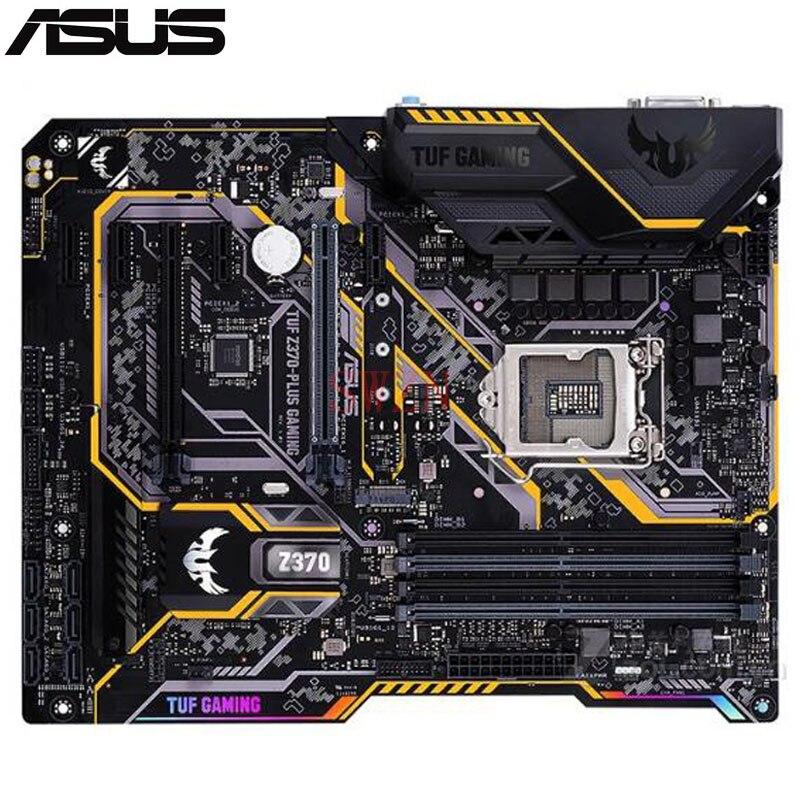 Оригинальный новая настольная материнская плата для ASUS Туф Z370 PLUS игровой Z370 LGA 1151 I7 I5 I3 4 * DDR4 поддержка 64 г 6 * SATA3 2 * M.2 ATX