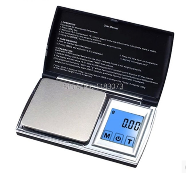 Mini Pocket Notebook Shape Jewelry Kitchen Scale 200g 0.01 LCD Touch Screen Baking Scales Bench Floor Weighing Balance Device