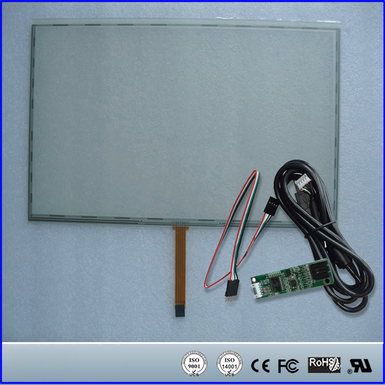 15.7 15.7inch 364mmx215mm 5Wire Resistive Touch Screen Panel USB Kit for 15.7 monitor 17inch resistive touch screen panel 382 2x239 5mm 5wire usb driver board kit for 17 monitor