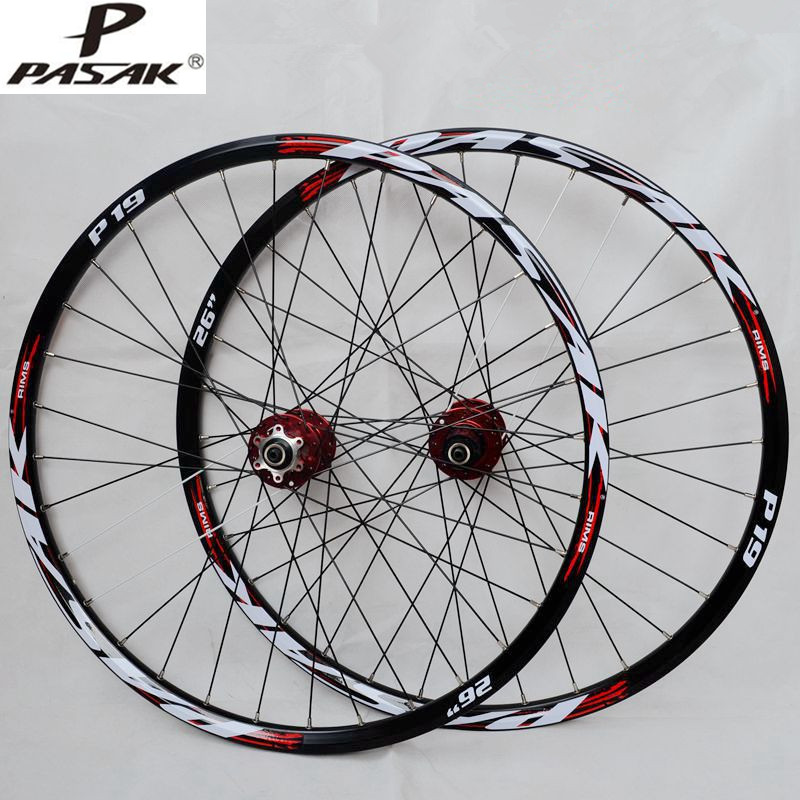 PASAK P01 MTB Mountain Bike Bicycle front 2 rear 4 sealed bearings hub wheel wheelset Rim