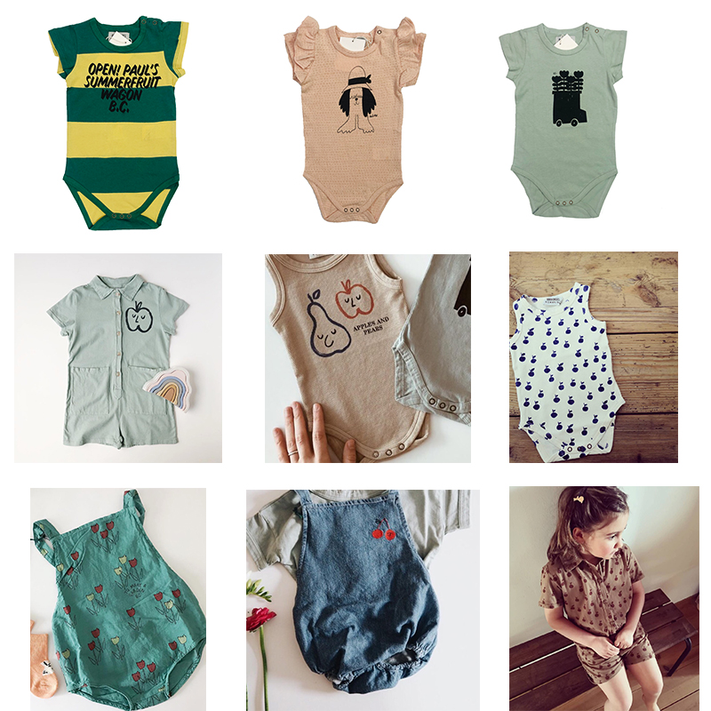 Baby Boys   Rompers   2019 Summer Bobo C Girls Print Jumpsuits Newborn Infant Cotton One Pieces Clothes Toddlers Costume