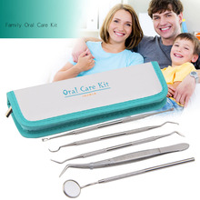 4-9Pcs Oral Care Set Stainless Steel Dental Tool Dentist Prepared