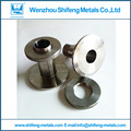 38mm  Custom 304 stainless steel wall bushing / sanitary wall bushing / fittings / sleeves / pair wire wall pipe