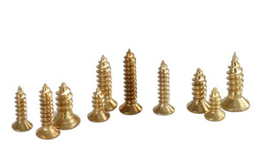 Image 2 - new 500 Piece Brass Plated Wood Screw Assortment self tapping screws teeth mouth fast Muhe small metal screws