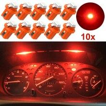 цена на 10pcs Brilliant Red Color B8.5D 509T B8.5 5050 Led 1 SMD T5 Lamp Car Gauge Speedo Dash Bulb Dashboard Instrument Light 12v DC