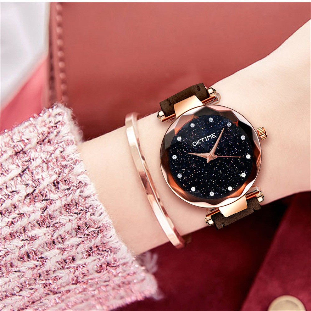 Women Watches Luxury Ladies Magnetic Starry Sky Clock Fashion Diamond Female Quartz Wristwatches Leather Strap Zegarek Damski@50