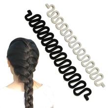 купить Fashion Hair Braiding Braider Tool Roller With Magic hair Twist Styling Bun Maker KG66 дешево
