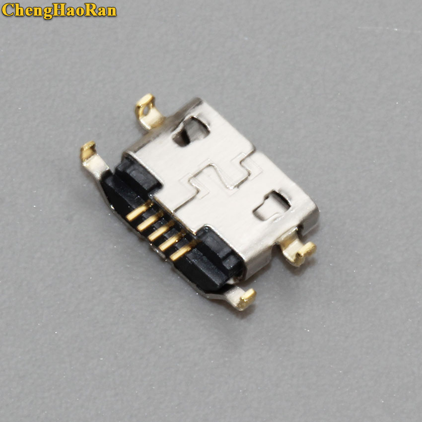 ChengHaoRan 100 500PCS Micro USB Charging Port Connector socket for Lenovo A708t S890 for Alcatel 7040N for HuaWei G7 G7 TL00 in Connectors from Lights Lighting