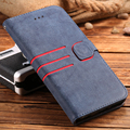 Retro matte pu carteira de couro case para iphone 7 7 plus coldre fivela magnética completo shell capa protetora para iphone 6 6 s além de