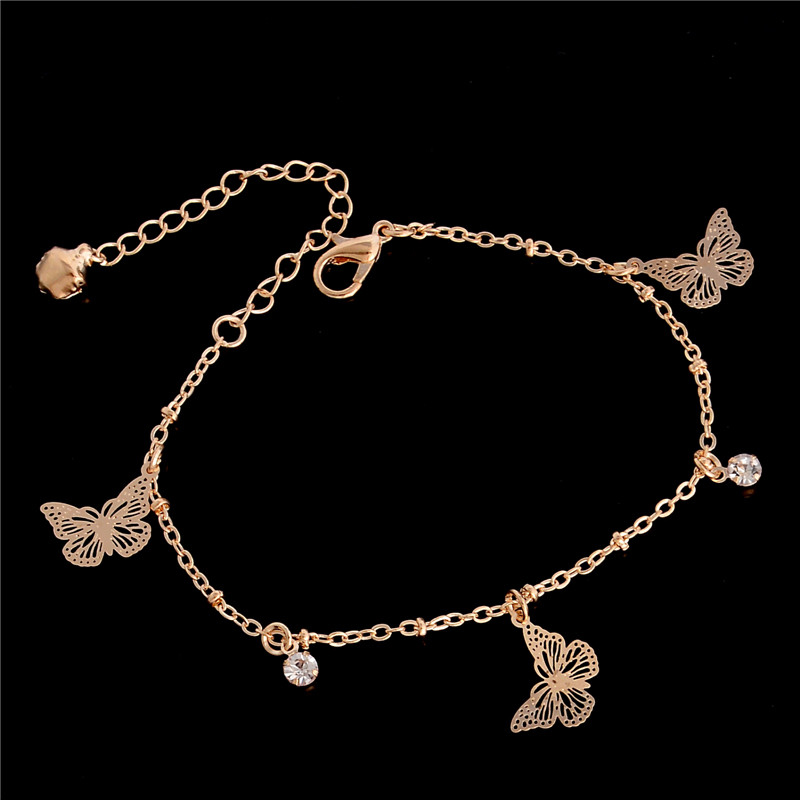 H:HYDE Sweet Simple Butterfly Shape Anklet Bracelet Chain Ankel Beach Foot Sandal Diomedes for Women Gift chaine cheville