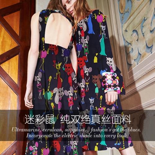 Camouflage souris impression crêpe de chine tissu en soie tissu en soie pour robe tissu en soie naturelle en gros tissu en soie