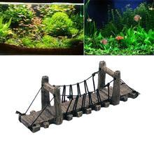 AsyPets Fish Tank Landscaping Decoration Bridge Aquarium Fish Shrimp Turtle Rest Platform Rope Bridge