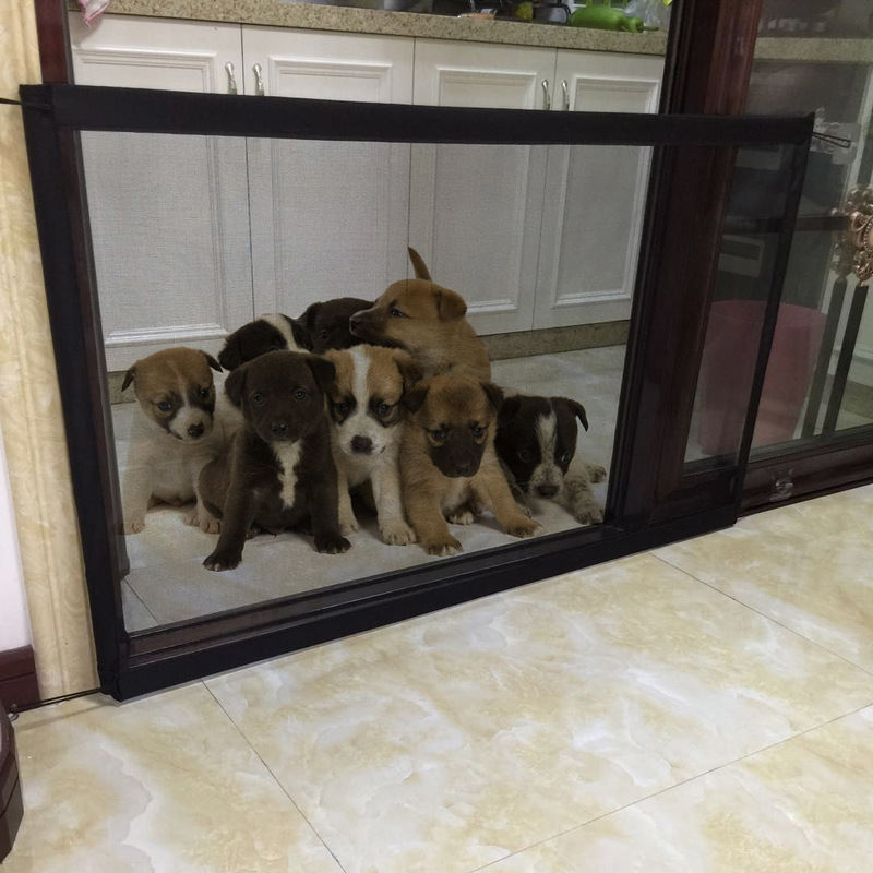Mesh Magic Pet Dog Gate Safe Guard Pet Safety Enclosure Folding Portable Dog Gate Mesh Indoor