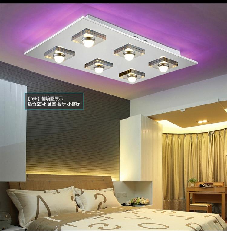Led Decke Wohnzimmer Lampe Schlafzimmer Modernen Minimalistischen Rechteckigen Edelstahl Kristall Kronleuchter Leuchten In