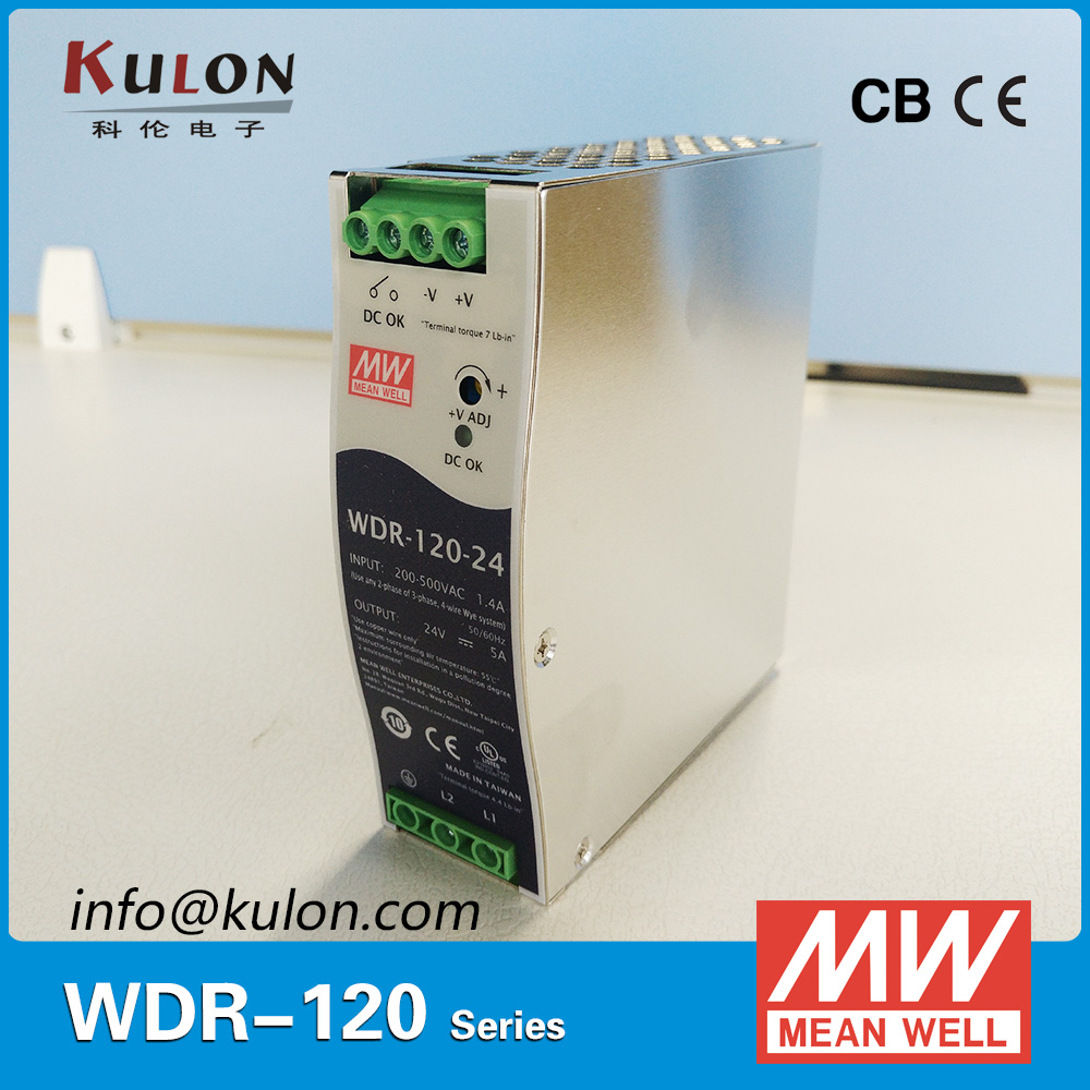 Genuine Meanwell 120W 10A 12V slim wide input Industrial DIN Rail Power Supply  WDR-120-12 DC OK relay contact минипечь gefest пгэ 120 пгэ 120