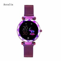 Accalia HI18 2019 New Smart Fitness Bracelet Women Blood Pressure Heart Rate Monitoring Wristband Gift For Lady