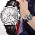 PAGANI Дизайнерские мужские кварцевые часы с хронографом люксовый бренд водонепроницаемые часы спортивные военные кожаные кварцевые часы ...