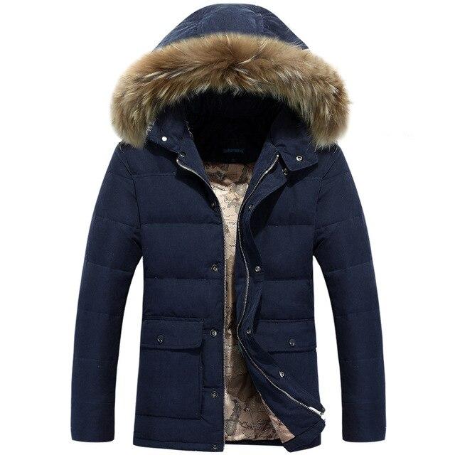 2016 Homens de Inverno Nagymaros colar Para Baixo Casaco de Moda Masculina Casual Com Capuz Quente Grossa Jaqueta Acolchoada Para Baixo