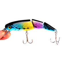 1Pcs Hard Baits Floating Minnow Lures 11cm 15.3g Crazy 3 Sections wobblers Multiple joints fishing lure Crankbait Fishing Tackle