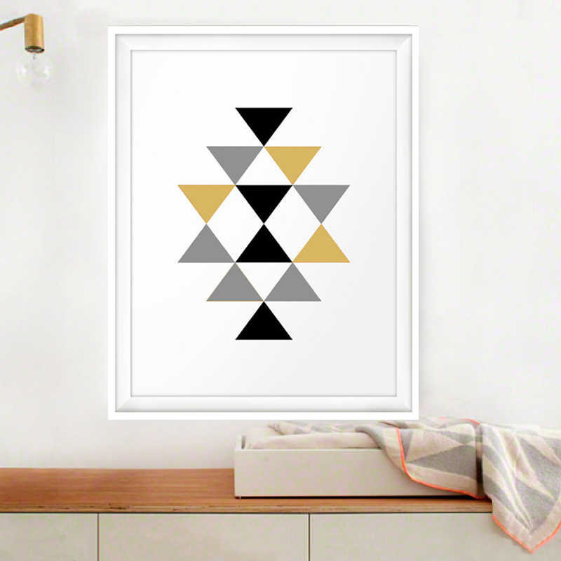 Geometric Triangles Aztec Canvas Paintings Abstract Nordic Posters And Prints Wall Art Pictures Kids Room Home Decor No Frame