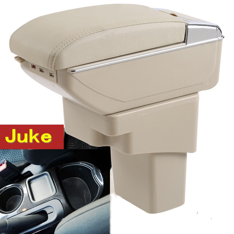 For Juke ESQ armrest box central Store content box with cup holder ashtray interior decoration car-styling accessory 2014-2017 for kia forte 2009 2017 abs with pu armrest box central store content box cup holder interior car styling products accessory